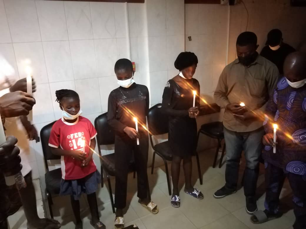 Candlelight procession in honour of Jumoke Oyeleke