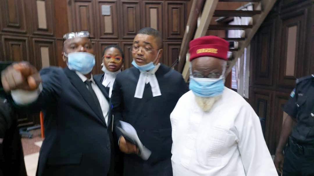 Mr Ezeife and Ifeanyi Ejiofor, a member of Mr Kanu's legal team.