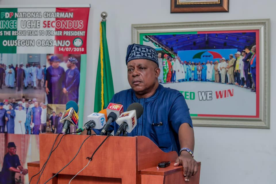 The National Chairman of the Peoples Democratic Party, PDP Chief Uche Secondus [PHOTO CREDIT: Prince Uche Secondus on Facebook]