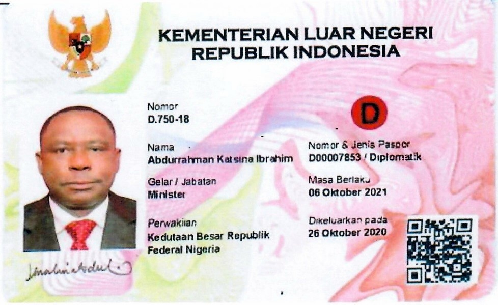 Picture of ID Card of Mr. Ibrahim
