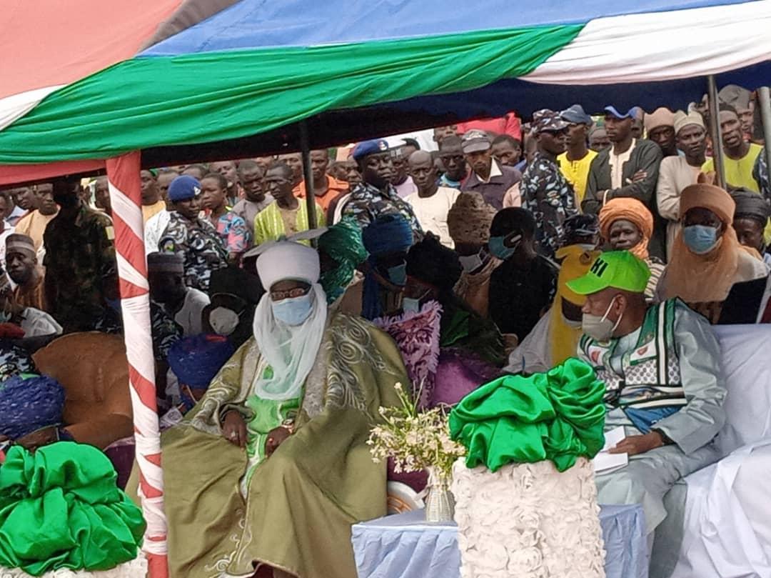 Kano State Governor Abdullahi Ganduje inaugurating Rano Emirate community policing committees