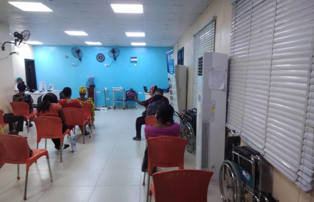 Patients wait for doctors in the GOCP in FMC Ebute-Metta, Lagos