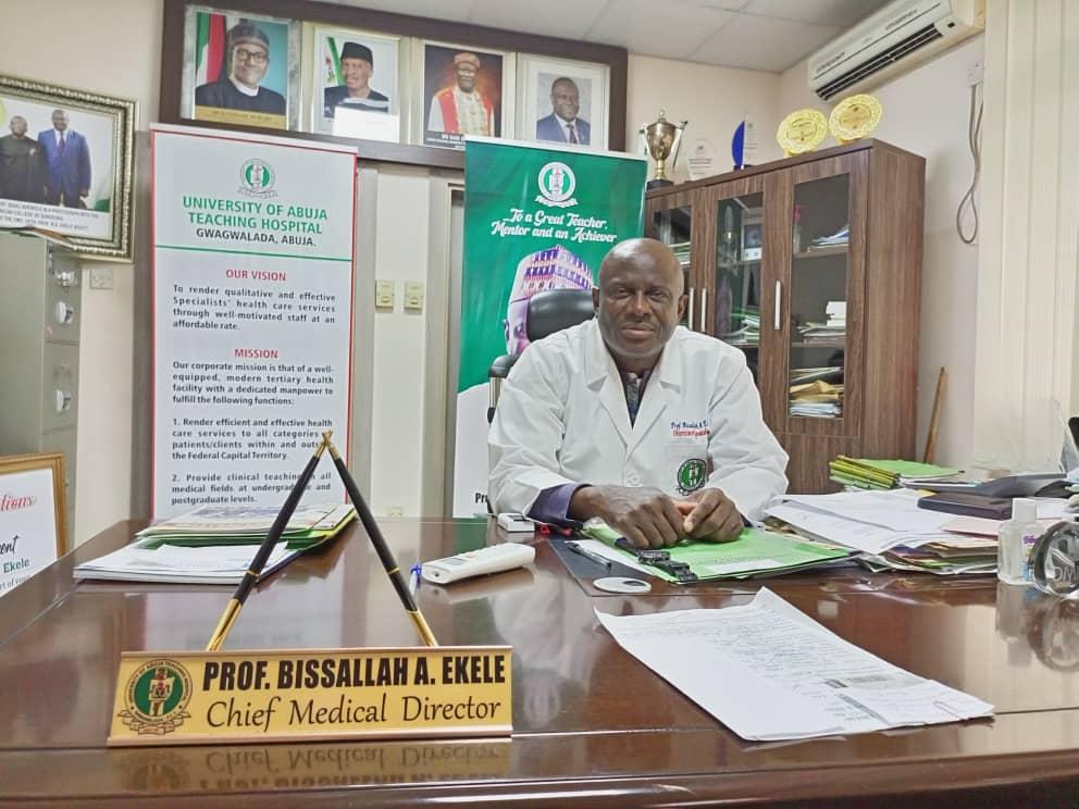 Bissallah A. Ekele, Chief Medical Director, University of Abuja Teaching Hospital, Gwagwalada.