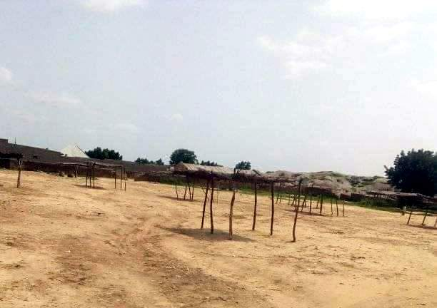 Empty cattle market in Charanci.