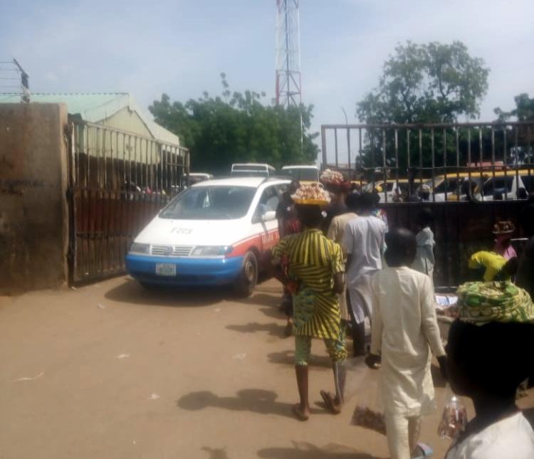 A vehicle leaving KSTA for Zamfara state through Funtua.