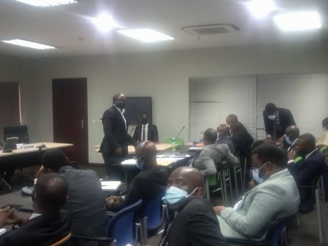 Joseph Kayode, Head of Sentinel Forensic team presenting report