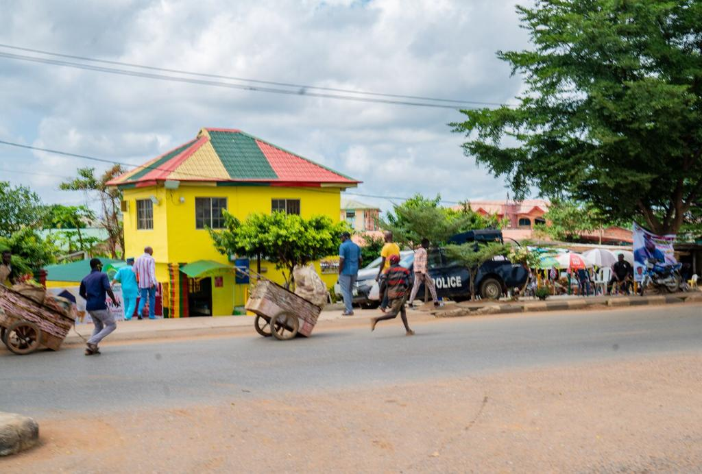 LAWMA stops offenders and impound carts for indiscriminate waste disposal