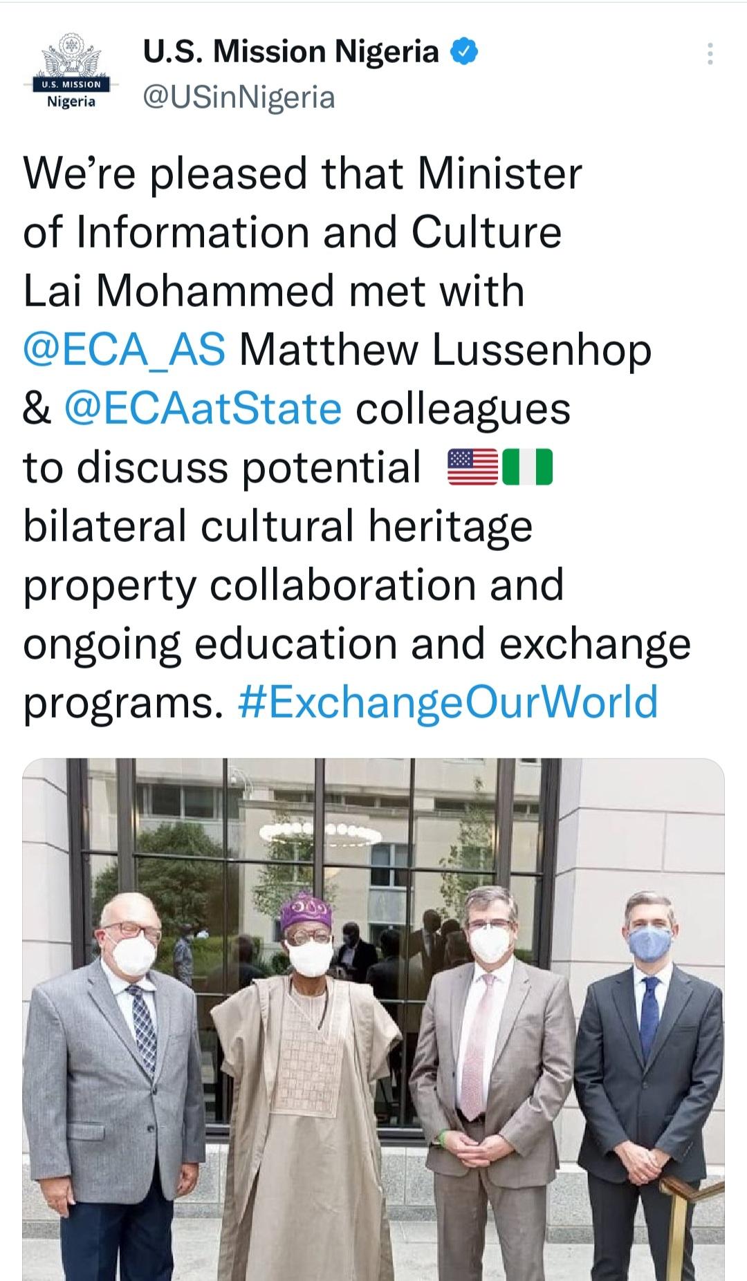 Lai Mohammed in Washington DC