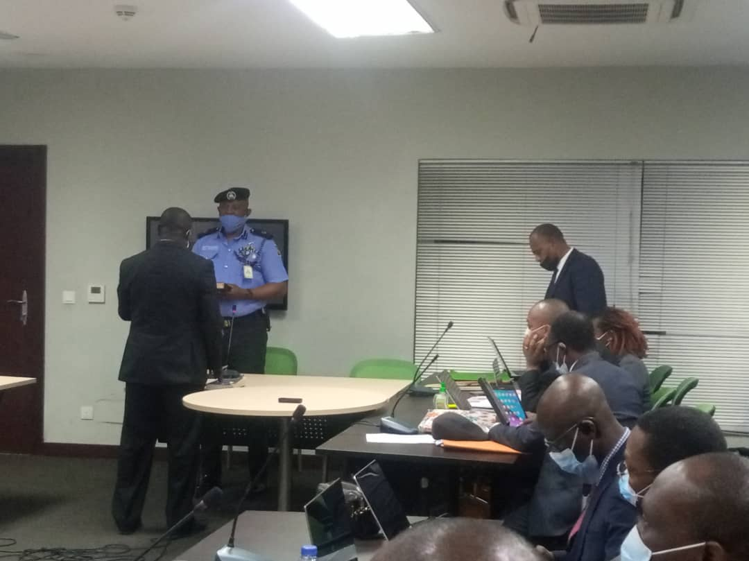 Oludotun Odubona, ACP in charge of operations for police command being sworn in at the panel