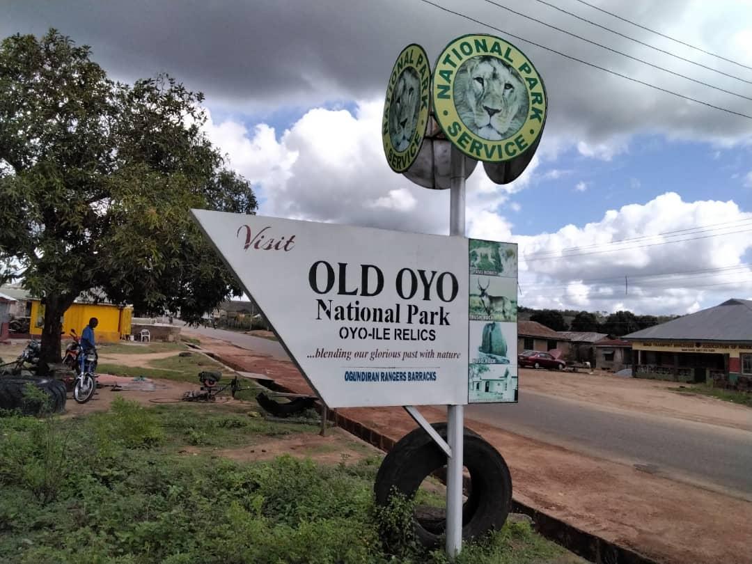 Old Oyo national park billboard