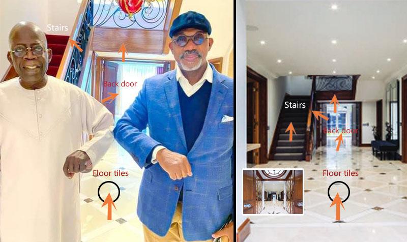 Bola Tinubu and Dapo Abiodun in London Mansion