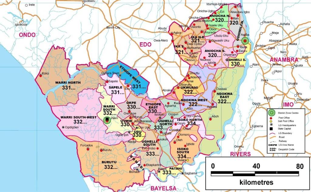 Delta-State-Postcode-Map
