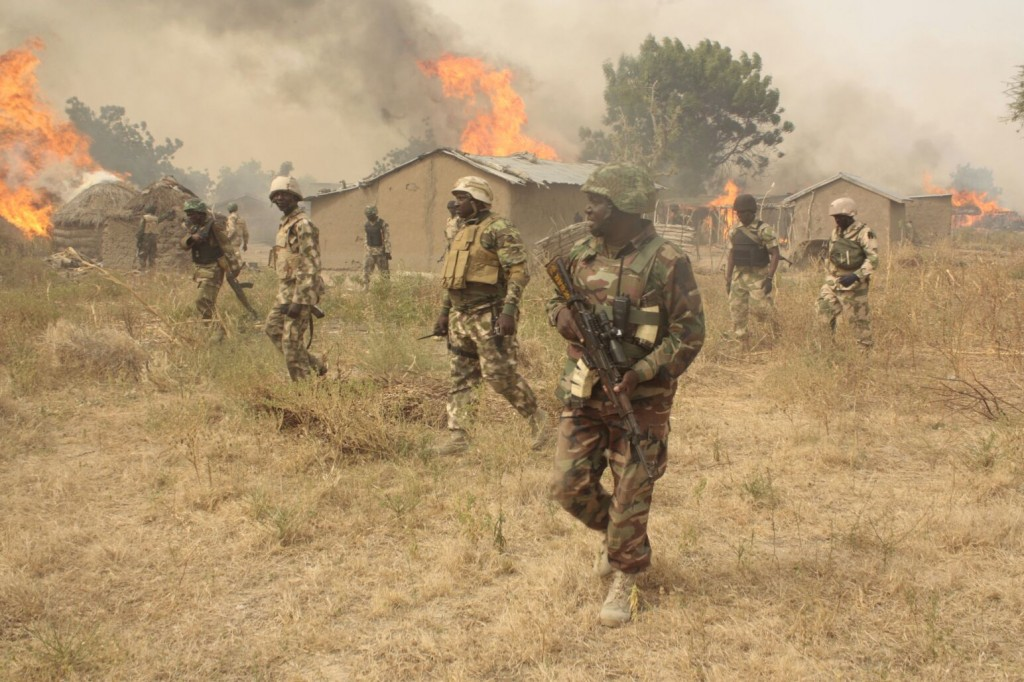 Nigerian troops in Sambisa Forest