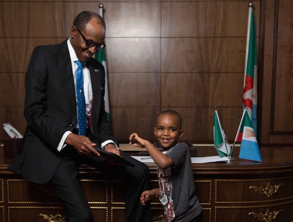 Buhari and a child