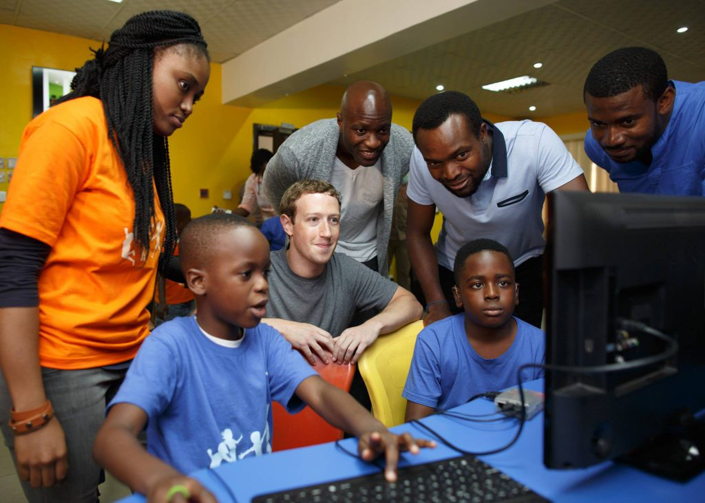 Zuckerberg at Co-creation Hub