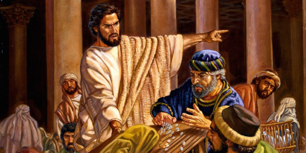 Jesus Casting Out Money Changers 2