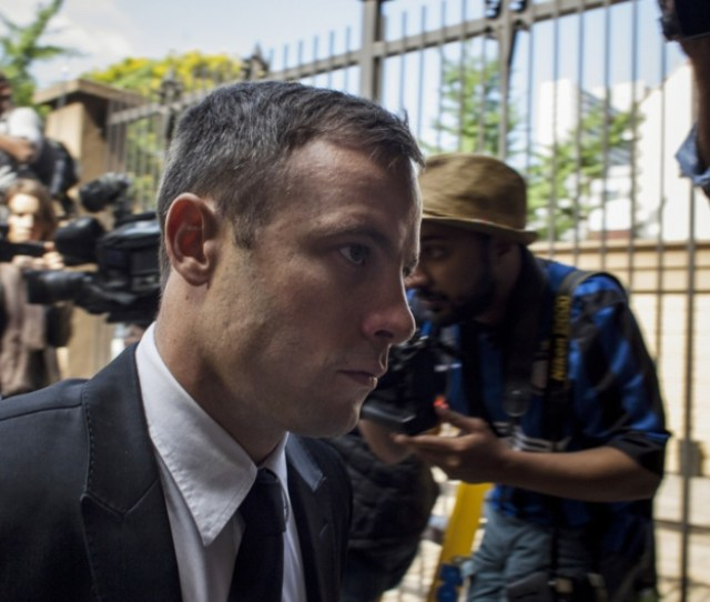 Oscar Pistorius Arrives At The North Gauteng High Court On Oct   For The Fourth Day Of Sentencing Having Been Found Guilty Of The Culpable Homicide