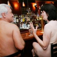 Nudist idea #88: Have a drink at the bar