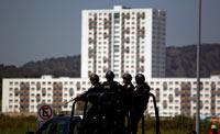 Vigilancia en Villa Panamericana. Foto: AP