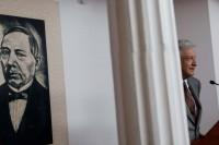 López Obrador en su conferencia matutina. Foto: Eduardo Miranda