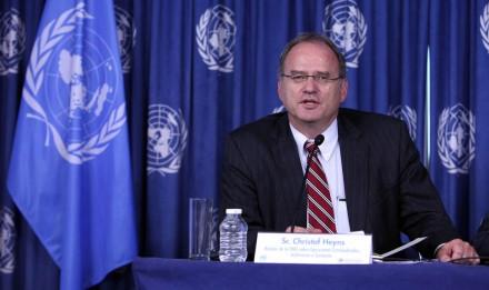 Christof Heyns, relator de la ONU. Foto: Benjamin Flores