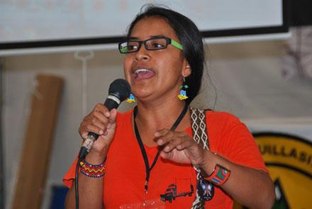 Vilma Almendra, indígena colombiana. Foto: Especial