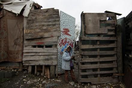 Una niña en Santa Catarina, Nuevo León. Foto: Víctor Hugo Valdivia