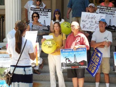 Protestas contra el fracking en Nevada. Foto: Tomada de Facebook.