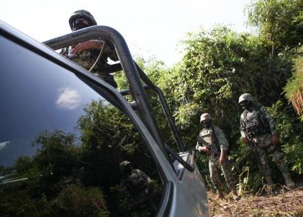 En busca de los normalistas desaparecidos en Cocula, Guerrero. Foto: Octavio Gómez