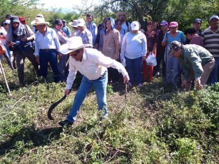 El punto conocido como La Laguna, donde familiares de desaparecidos localizaron restos óseos. Foto: Ezequiel Flores