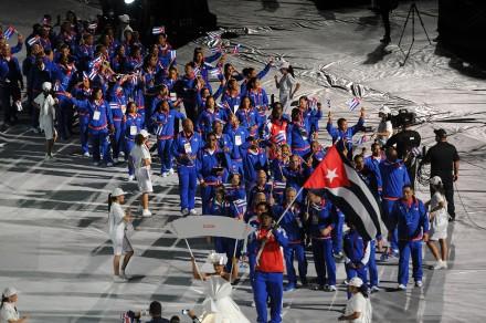 La delegación de Cuba durante la inauguración de los Centroamericanos. Foto: Yahir Ceballos