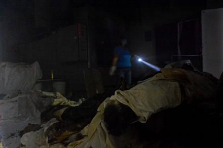 Los cuerpos hallados en el crematorio de Guerrero. Foto: Xinhua / Javier Verdín