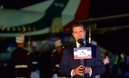 Peña a su llegada a Panamá. Foto: Presidencia