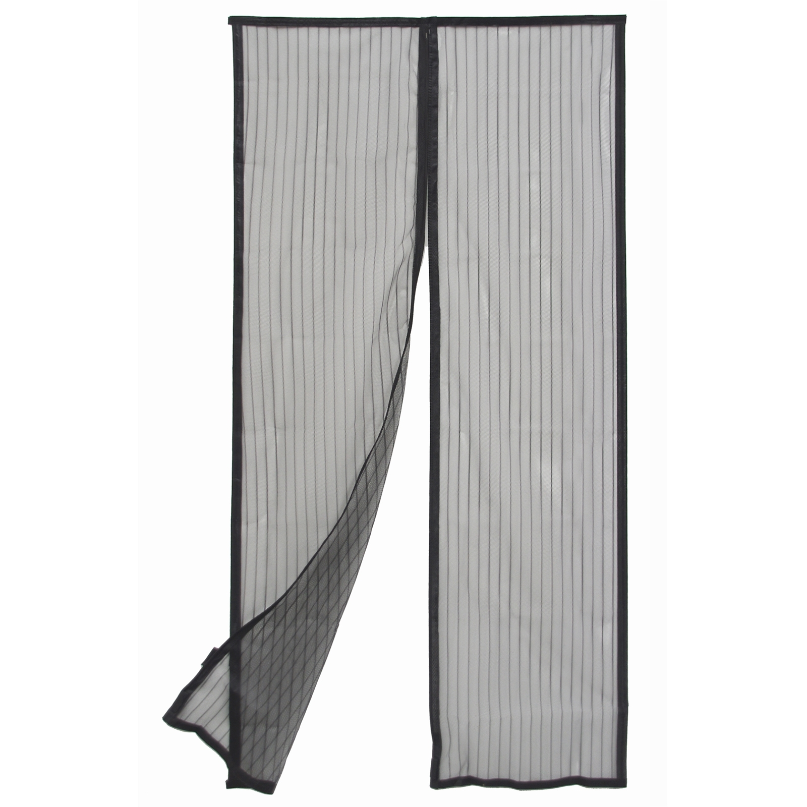 pillar products 90 x 200cm black magnetic flyscreen door curtain