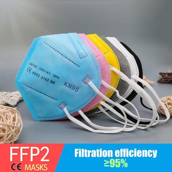 Multicolor Ffp2 Face Mask (Kn95 Reuseable Ffp2Mask)