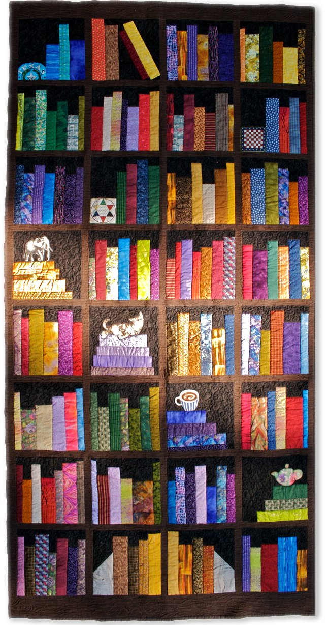 at work bookcase quilt pattern