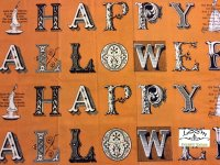 happy halloween scary letters