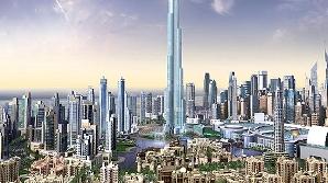 Burj Dubai se vede de la 100 de kilometri distanţă