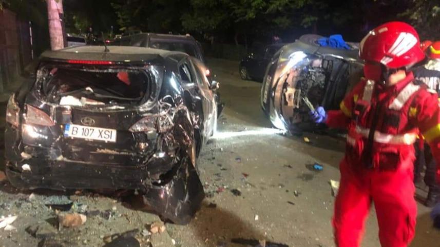Accident pe Bulevardul Uverturii, din Capitală