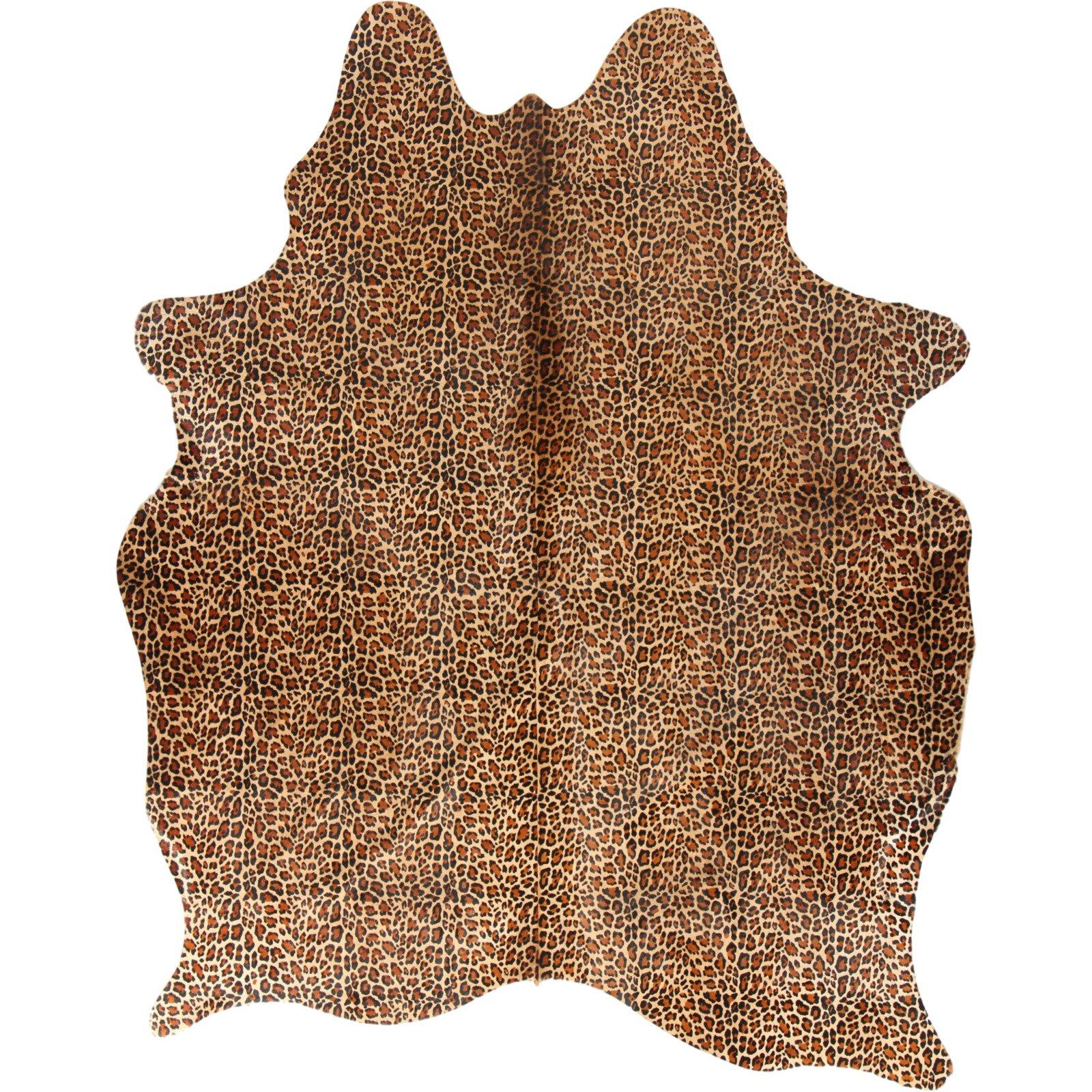 peau de vache safari leopard 3 4m2 jaune noir esbeco jaune