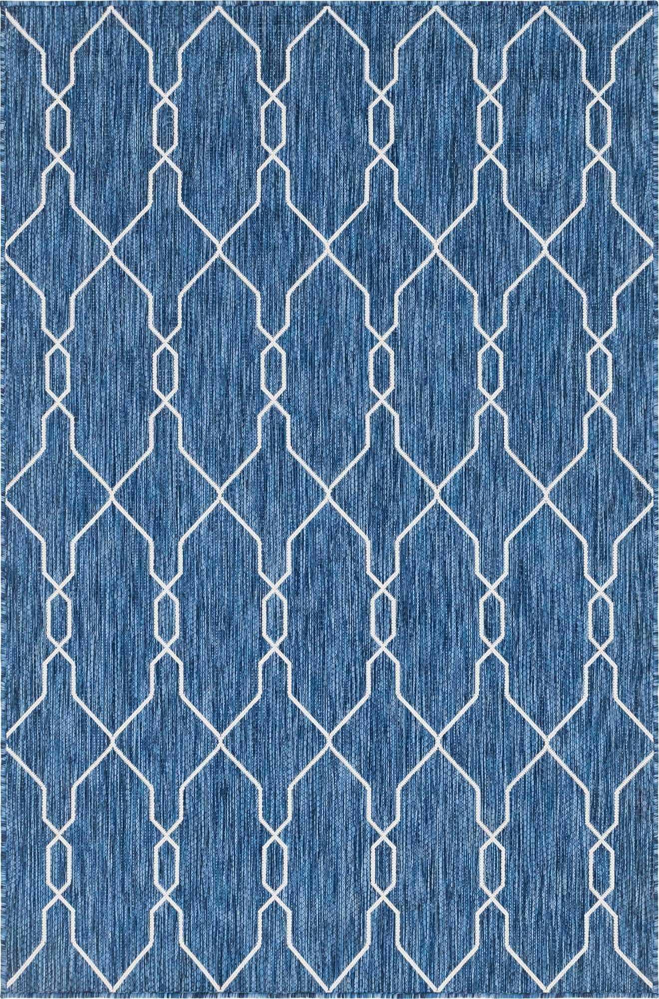 tapis scandinave exterieur moa nazar bleu