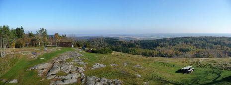 Från toppen på Omberg.