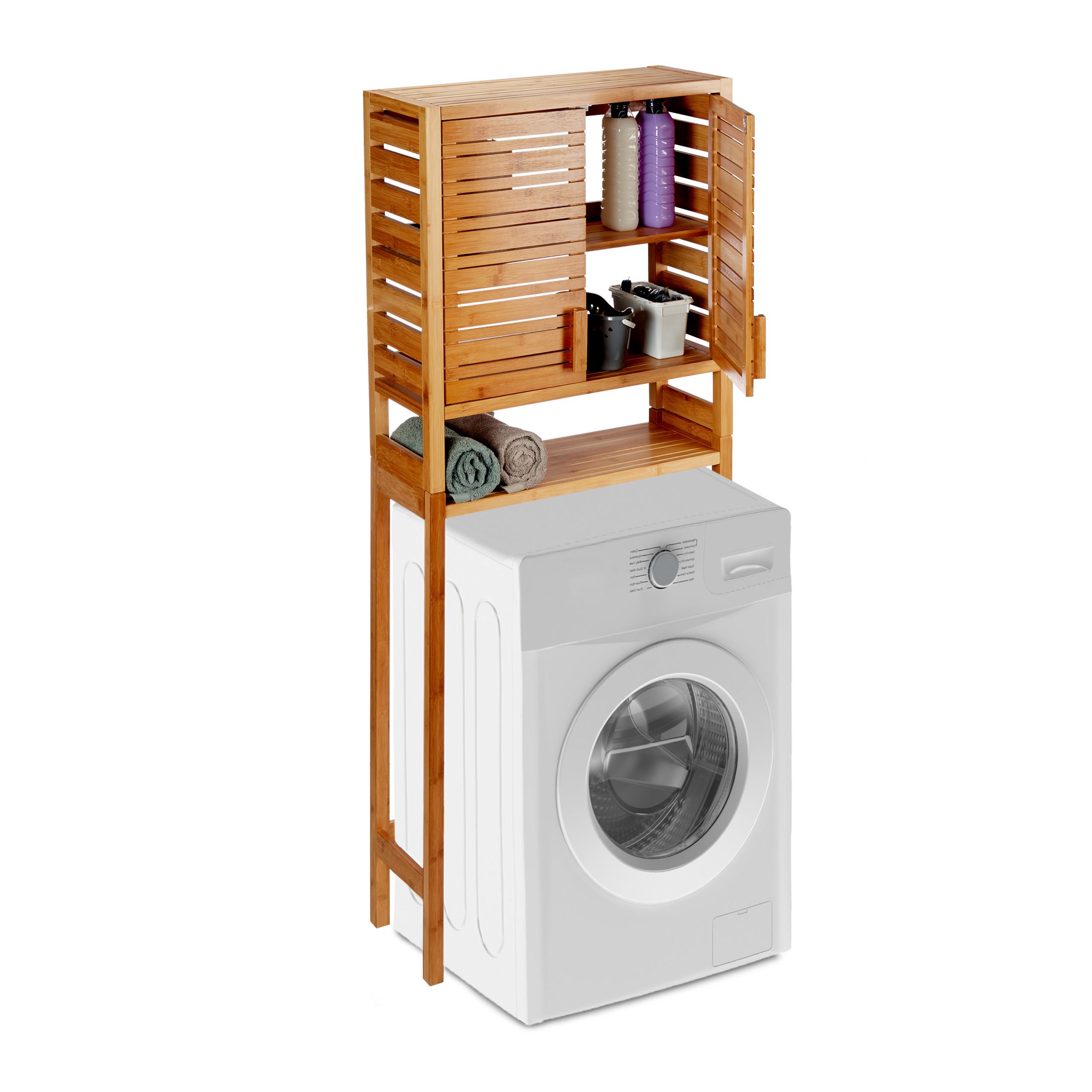Waschmaschinenschrank Bambus Badschrank Wc Hochschrank