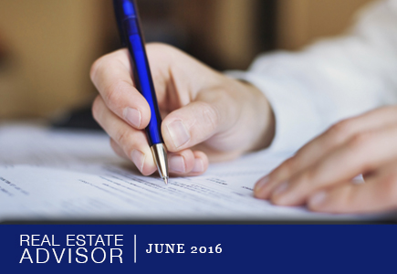 Real Estate Advisor: June 2016