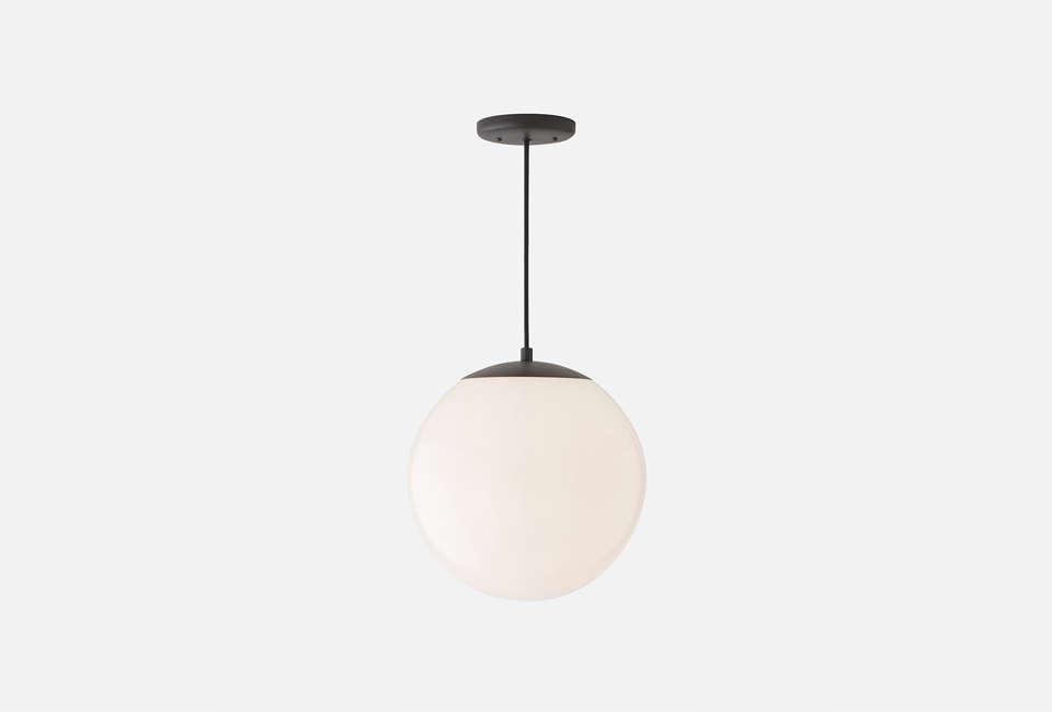 white globe pendant lights