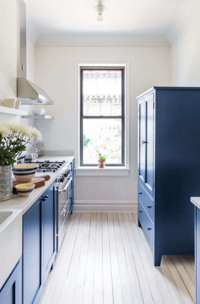 renovated rowhouse kitchen Ridgewood Queens photograph courtesy of White Arrow