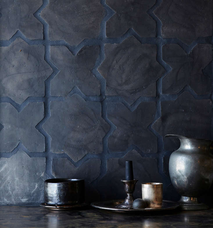 black terracotta tiles inspired by