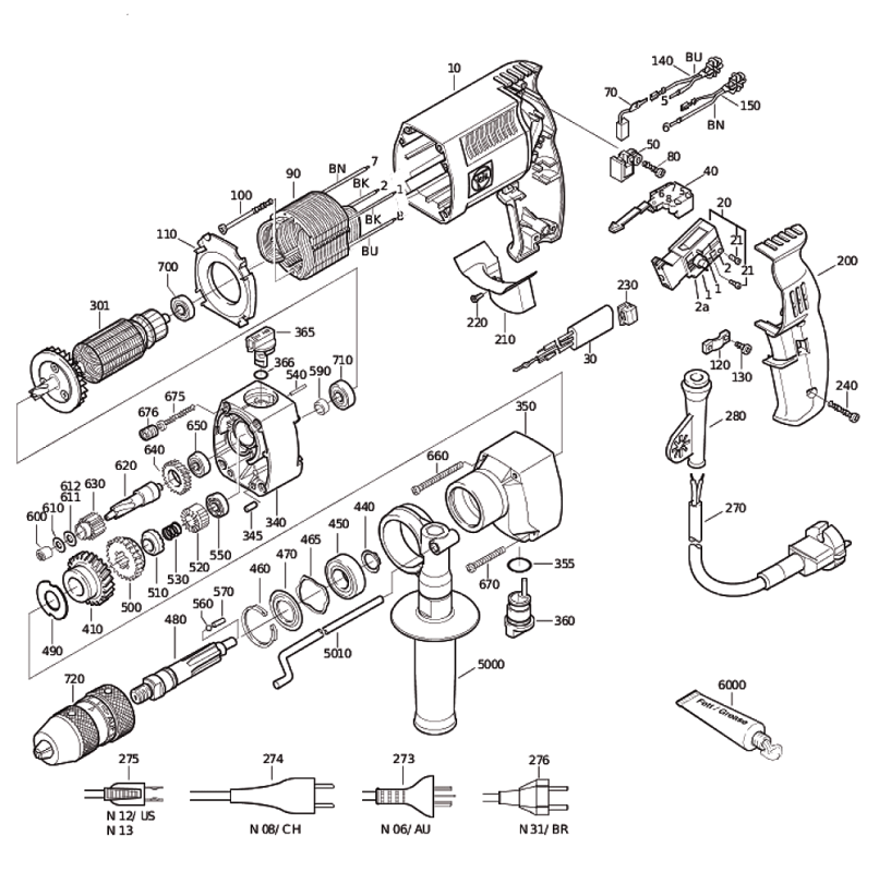 Fein 72043012362 Repair Parts