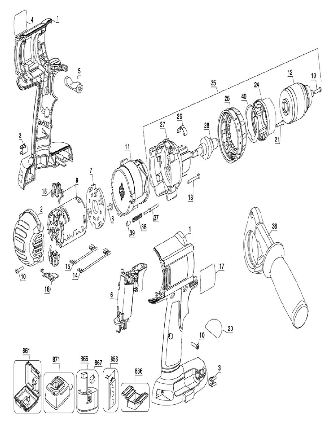 Dewalt Dc920ka Parts List