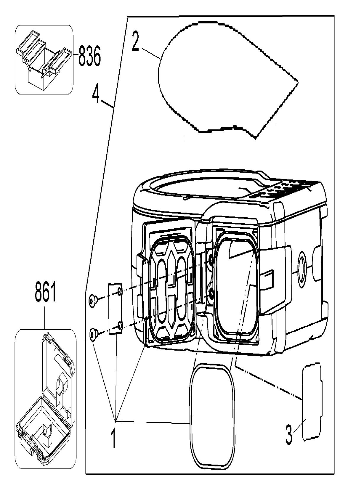 De Walt Grinder Schematic View